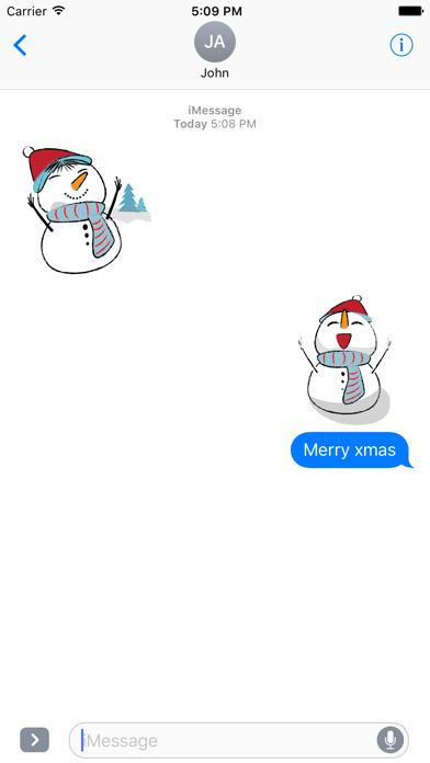 Snowman Stickers - emoji for iMessage screenshot two