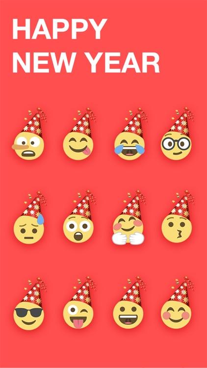 New Year Emoji - Emojis Sticker For iMessage screenshot-3