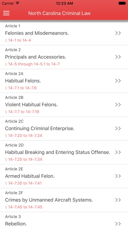NC Criminal Law
