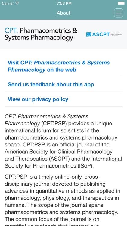 CPT: Pharmacometrics & Systems Pharmacology screenshot-4