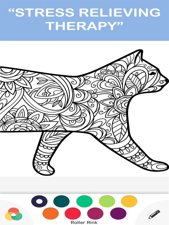color therapy free adult coloring books for adults | App ...