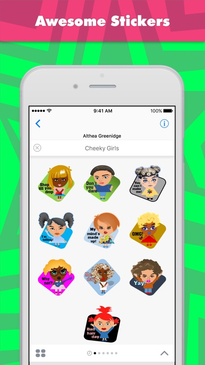 Cheeky Girls stickers by Alade Expressions