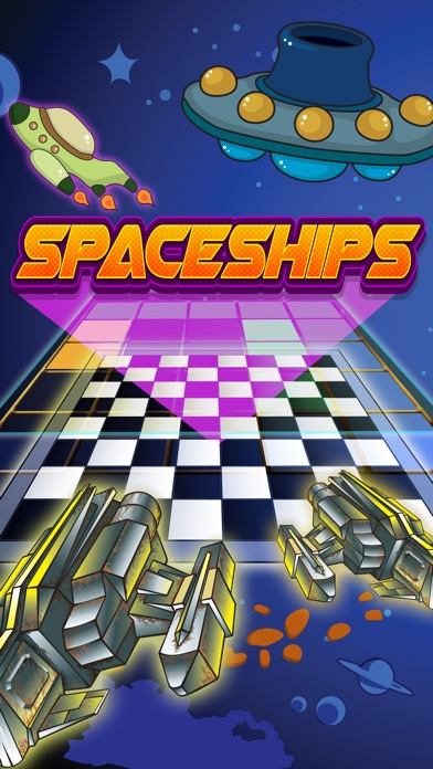 Checker Board Spaceship Puzzle Style Pro app image