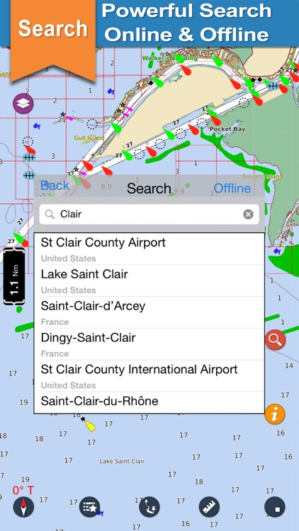 Lake St. Clair offline nautical chart for boaters screenshot-3