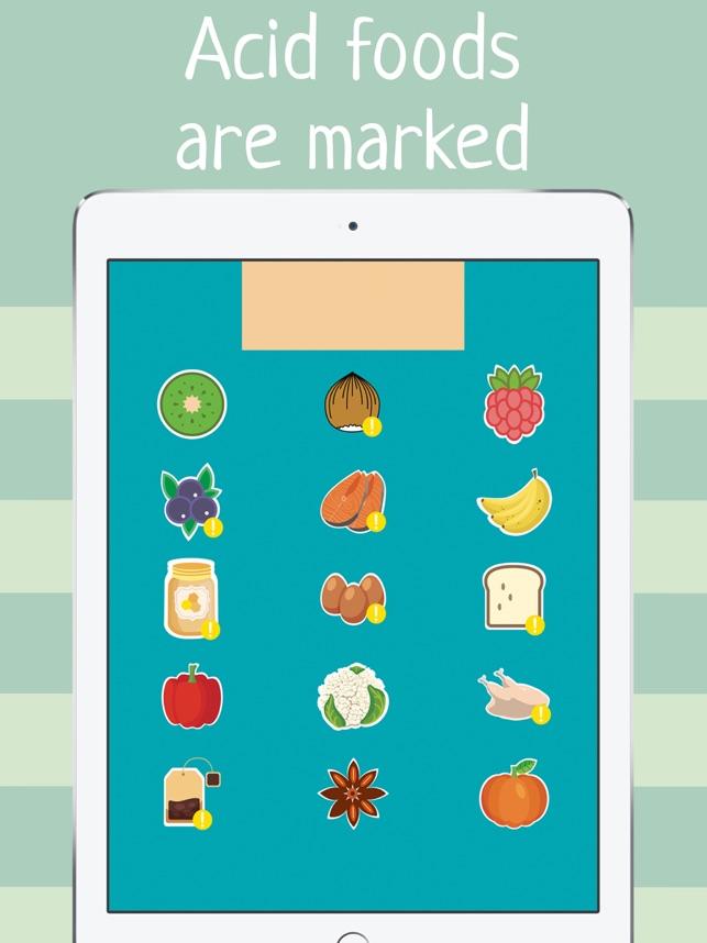 alkaline foods diet food list acidity guide ph app im app store