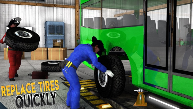 Real Bus Mechanic Simulator 3D Repair Workshop PRO screenshot-3