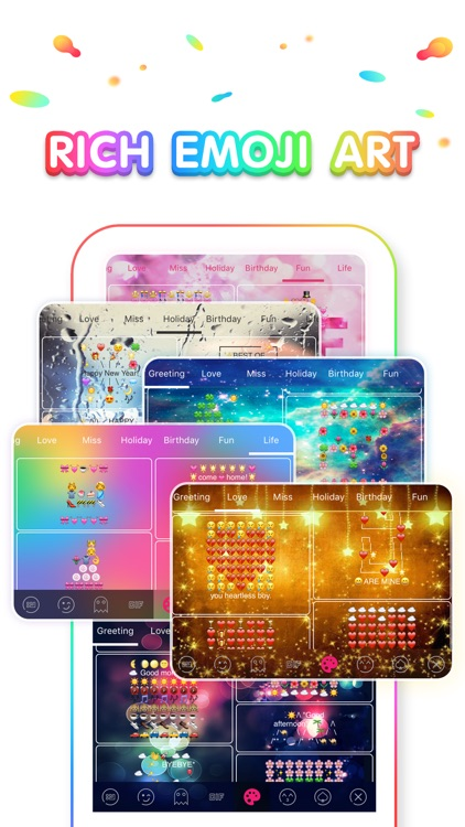 Rainbow Keyboard - Emojis, GIF, Wallpaper, Theme screenshot-4