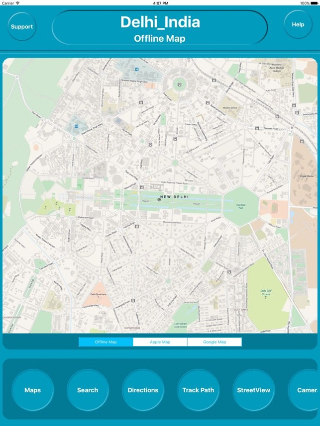 Delhi India Offline City Maps Navigation im App Store on