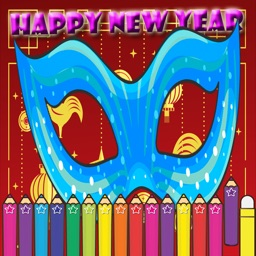 Happy New Year Coloring for kids Holiday Games