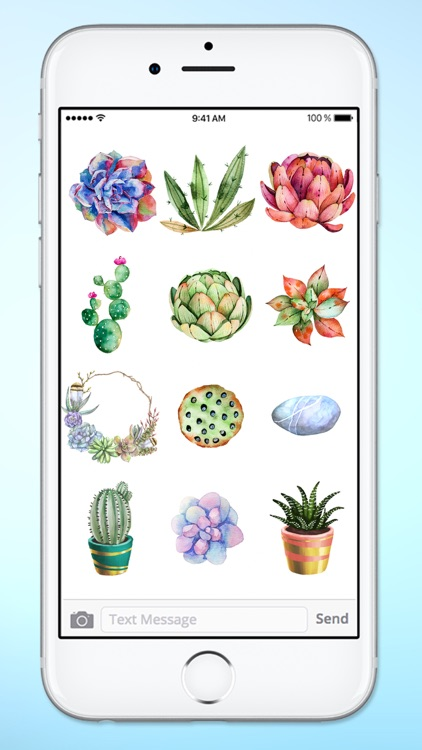 Watercolor Cactus and Succulents Sticker Pack screenshot-3