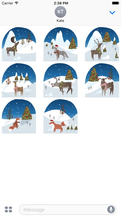 Wild Christmas - Animated Christmas Stickers