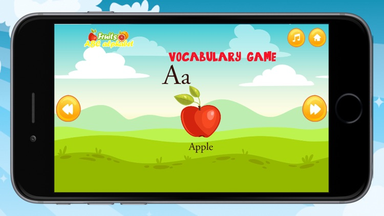 ABC Alphabet Learning Fruits