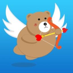 A Cupid Bear Stickers