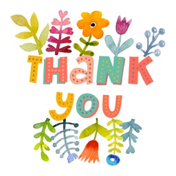 Thank You So Much Watercolor Flowers Sticker Pack