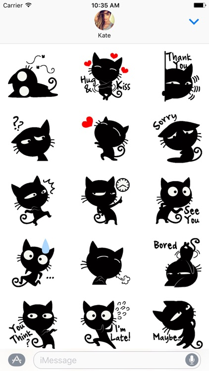 Sneaky The Cat Stickers