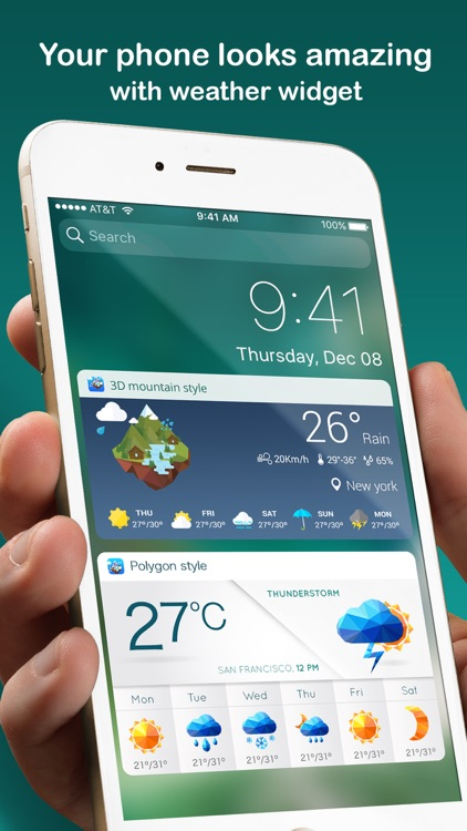Weather Widget - Unique styles weather forecast screenshot-0
