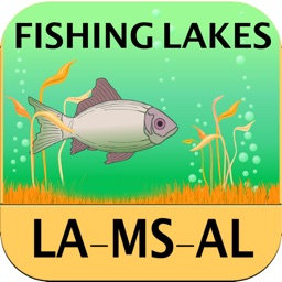Louisiana, Mississippi, Alabama - Fishing Lakes