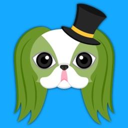 Saint Patrick's Day Japanese Chin Emoji Stickers