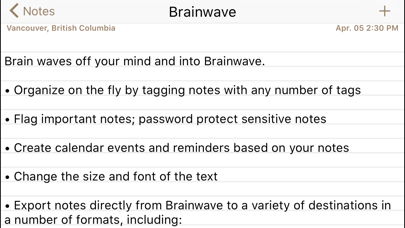 Brainwave screenshot one