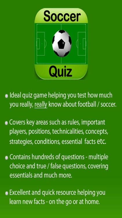 Football Soccer Trivia Quiz