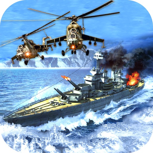 War-ship Sea Helicopter Strike : 3D Battle-Field