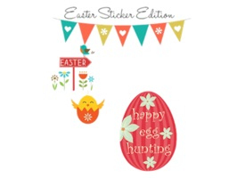 Cute Easter Eggs Sticker