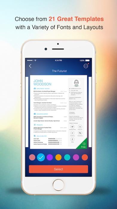 Resume: CV Builder & Designer For Your Job Search Screenshot