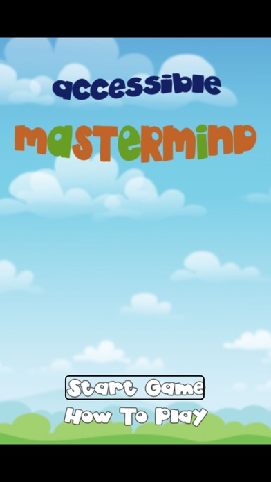 Accessible MasterMind Screenshot