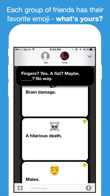 Emoji Against Humanity - Card Game for iMessage screenshot-3