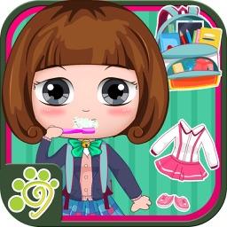 Belle prepare school days (happy box) girls game