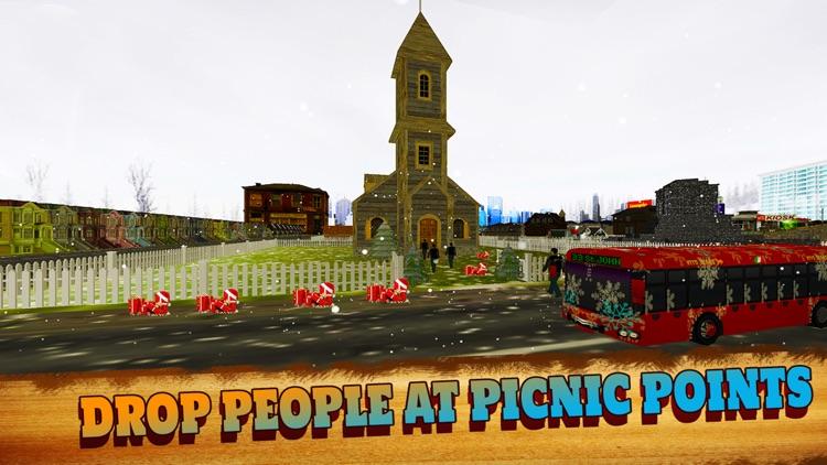 Christmas Party Snow Coach Bus Simulator Pro 2016 screenshot-3