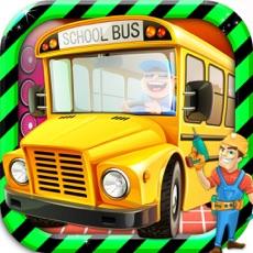 Activities of School Bus Mechanic Simulator Workshop Factory 2D