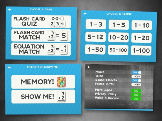 Screenshot #4 for Addition Flash Cards Math Help Quiz Learning Games