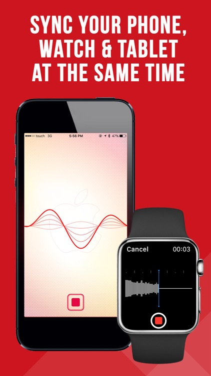Voice Memos for iPhone and Watch PRO app image
