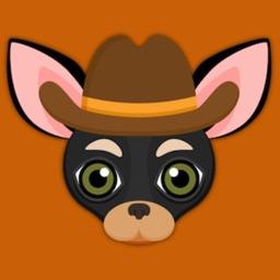 Black Tan Chihuahua Emoji Stickers for iMessage