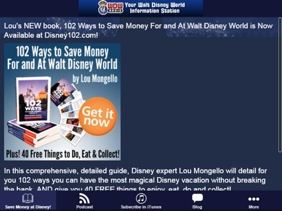 WDW Radio app screenshot