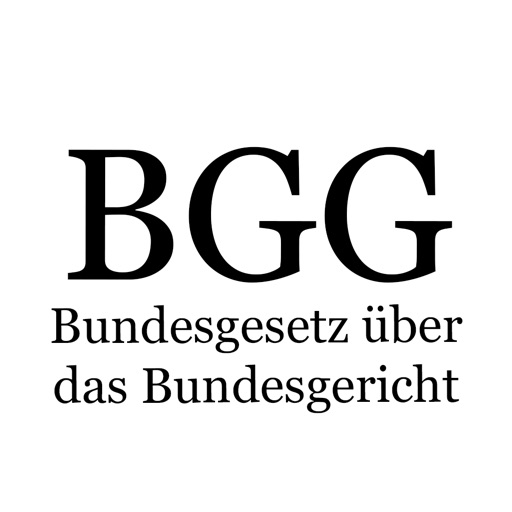 BGG - Bundesgerichtsgesetz