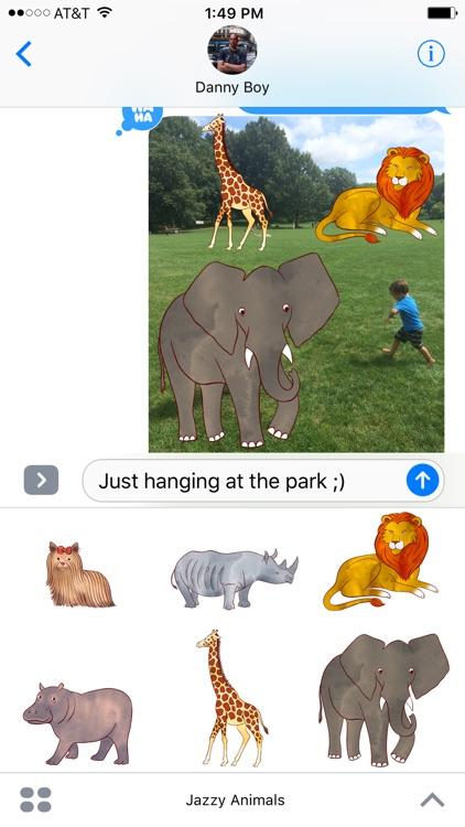 Jazzy World Animals - Wildlife Zoo Stickers