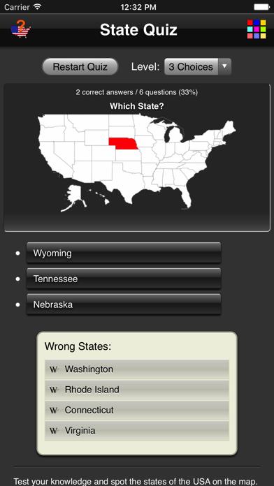 State Quiz screenshot one