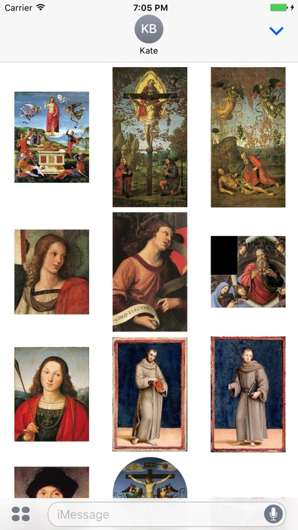 Raphael Paintings for iMessage