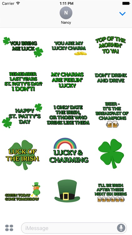 St. Patrick's Day Celebration Stickers