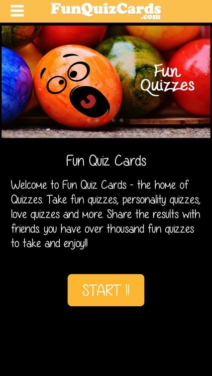Fun Quiz Cards