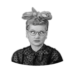 I Love Lucy - Black&White Stickers
