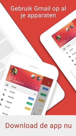 Gmail van Google in de App Store