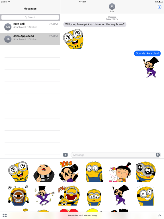 Despicable Me 3 x Momo Wang Stickers screenshot 5