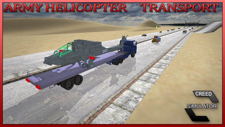 Army Helicopter Transport - Real Truck Simulator screenshot-3