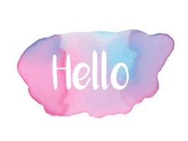 Hello - Watercolor Messages Stickers by Maraquela