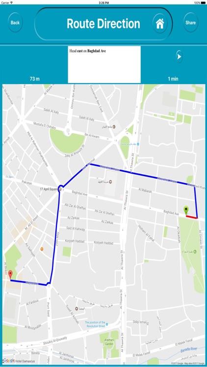 Damascus Syria Offline City Maps Navigation screenshot-4