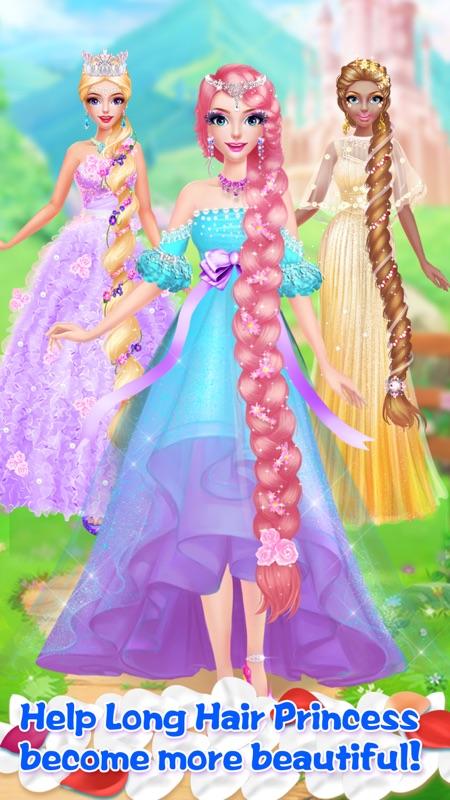 Long Hair Princess Salon Girls Fashion Makeup Online Game Hack And Cheat Gehack Com