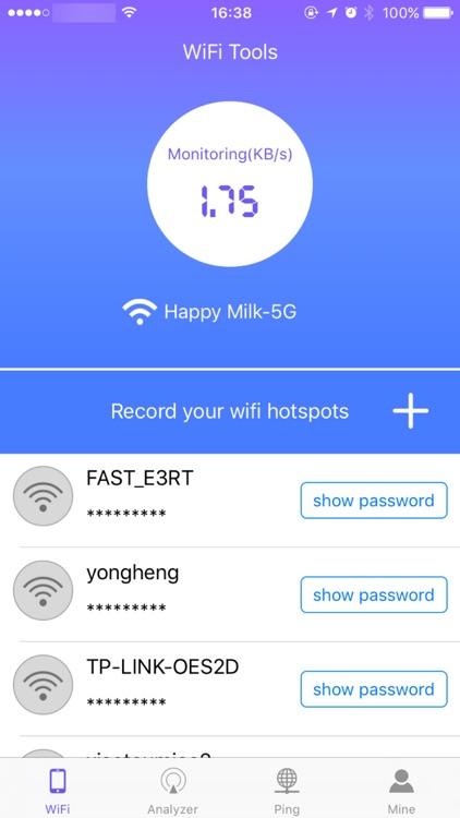 Wifi Password&Key assistance